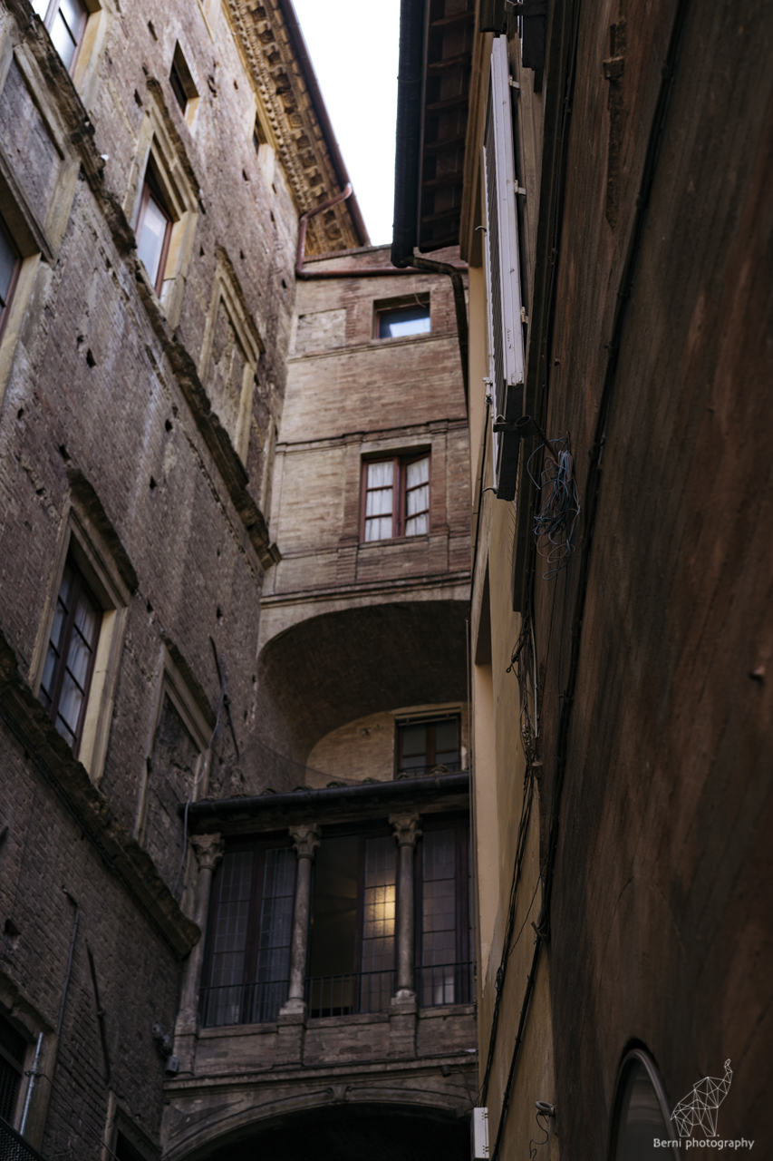 giorno a Siena tra le bandiere delle contrade e il duomo di Siena