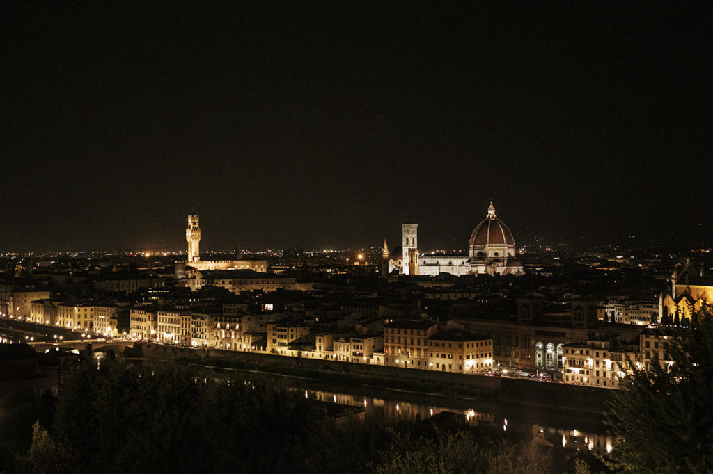 A fascinating glow: Florence by night.